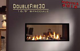 camino doppia faccia sicikalor doublefire30 16 9 bifacciale termocamini idro a