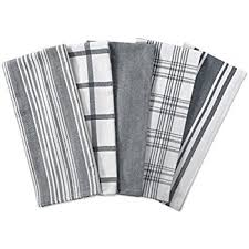 dii kitchen dish towels gray 18x28 ultra absorbent