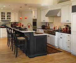 kitchen island with cabinets white cabinets with black kitchen island decora