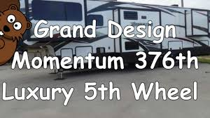 grand design momentum 376th luxury 5th wheel trailer youtube