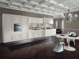 contemporary kitchen cabinet design brown island white wall