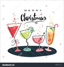 christmas cocktails clipart christmas card champagne glasses stock vector 435470536 shutterstock
