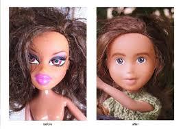 artist repaints bratz dolls natural brit