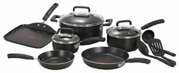 T Fal Toaster T Fal Signature Total 12 Piece Cookware Set Black C111sc74 Best Buy