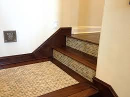 tiles wood stair treads tile risers stair wood tiles wood
