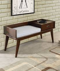 Cushioned Storage Bench Furniture Using Captivating Foyer Bench For Interior Furniture