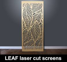 leaf laser cut metal screen and decorative architectural panels