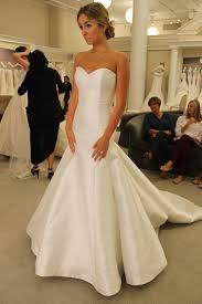 plain wedding dresses seaosn 14 featured dress augusta jones satin trumpet strapless