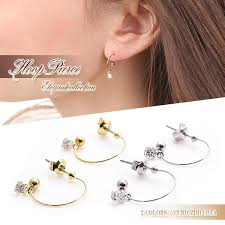 japan earrings accessoryshopbarzaz rakuten global market sparkling earrings