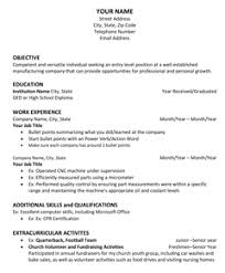 Resume For First Job Template How To Apply For Your First Job