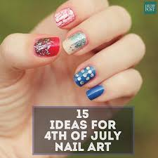 american flag nail art for your fourth of july celebration huffpost