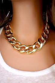 gold necklace chunky chain images Chunky chain necklace add a little edge to any outfit with this jpg
