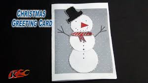 diy easy christmas snowman greeting card how to make jk easy