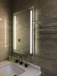 Wall Mounted Bathroom Mirror Diyhd Wall Mount Led Lighted Bathroom Mirror Vanity Defogger 2