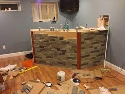 kitchen island tile and wood floor designs orange island
