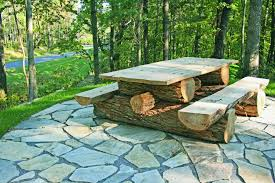 tables made from logs rustic locust picnic table custom made to your specifications this