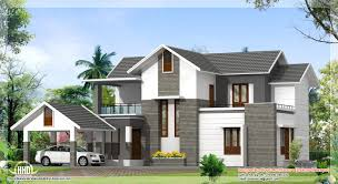 Front Elevations Of Indian Economy Houses by 2000 Sq Feet Contemporary Villa Plan And Elevation Kerala Home