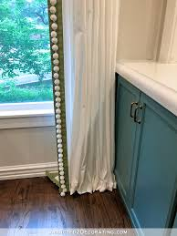 ikea ritva curtains customized with contrast edge band pompom