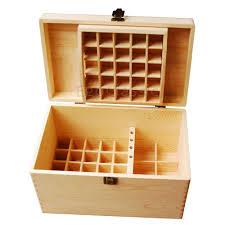2018 new design wooden essential oils storage box 56 holes bilayer