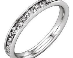 carved wedding bands carved wedding band etsy