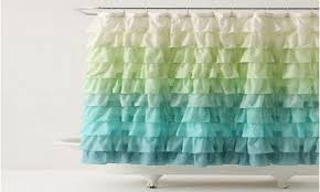 Teal Ruffle Shower Curtain by White Ruffle Shower Curtain Target