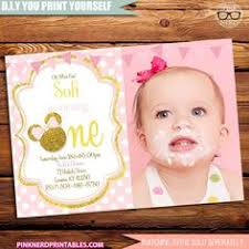 minnie mouse birthday party invitation pink and gold black