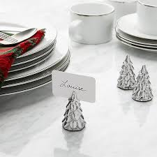 silver tree place card holder crate and barrel