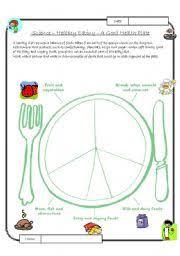 esl kids worksheets healthy eating