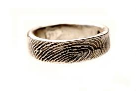 fingerprint wedding bands buy a custom sterling silver or mens fingerprint wedding
