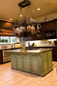 Kitchen Island With Hanging Pot Rack Best Ideas About Pot Rack Hanging In Of Kitchen Island Trends And