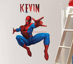 spiderman wall decal removable reusable spiderman sticker giant personalized spiderman decal removable wall sticker home decor art