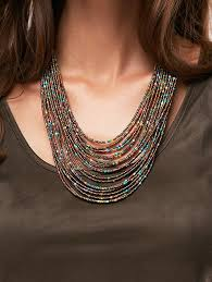 multi layer beaded necklace images Bohemia multilayer beads chain necklace collares mostacilla jpg