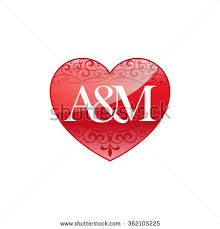 a m am initial letter couple logo ornament stock vector 2018 362105225