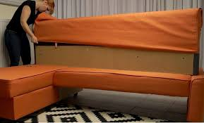 Orange Sofa Bed Comfort Works Friheten Slipcover Review