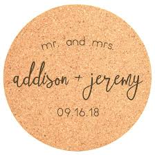 cork coasters personalized 25pc cork coasters mr mrs st out