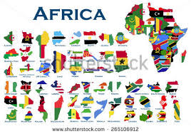 africa map all countries vector algeria map collection free vector stock