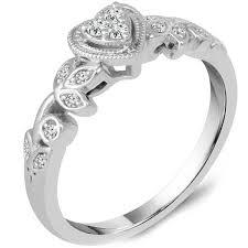 white gold promise rings ben garelick heart shape diamond promise ring