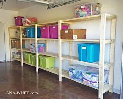 Wood Storage Rack Plans by Ana White Easy Economical Garage Shelving From 2x4s Diy Projects