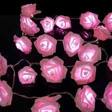 pink white leds rose flower string lights living bedroom fairy