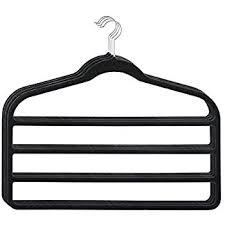 ultra slim velvet 4 bar pant hangers set of 3 black