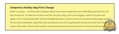 carry on fee spirit airlines baggage fees and the spirit airlines carry on fee