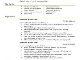 Sample Of Security Guard Resume by Example Security Officer Resume Security Officer Resume Example