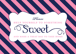 Wedding Buffet Signs by Sweet U0026 Sparkly Wedding Candy Buffet Pink And Navy Hostess