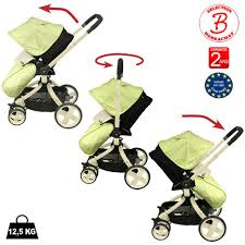 poussette siege auto bebe poussette bébé 4 roues rotative combiné 3 en 1 poussette siège