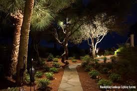 Moonlighting Landscape Lighting Moonlighting Sets A Sea Pines Landscape Aglow Contemporary