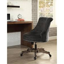 Armless Upholstered Office Chair In Charcoal Gray 178403char01u