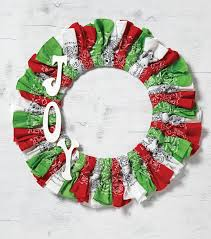 how to make red white and green joy christmas bandana wreath