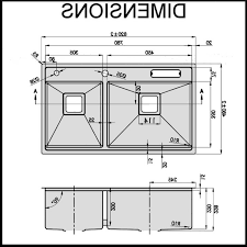 kitchen standard size kitchen sink in inspiring standard size