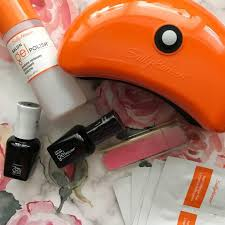 sally hansen salon gel polish manicure kit review liz coco