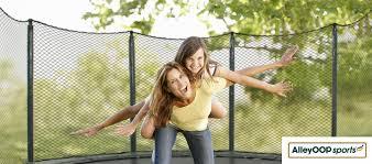amazon black friday trampoline amazon com alleyoop variablebounce trampoline with enclosure